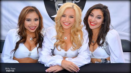 2016 Oakland Raiderettes Sasha, Kara & Jacqulyn