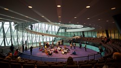 Circle (Future-Echoes) Tags: 2016 architecture circle cityhall light lights london people seats spiral
