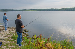 Fishing at Shabbona Lake