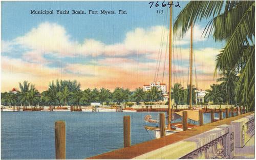 florida postcards pierswharves tichnorbrothers