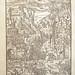 Woodcut illustration of the battle between Roman Catholic Christianity (denizens of