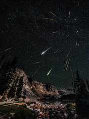 Snowy Range Perseids Meteor Shower (David Kingham) Tags: nightphotography summer sky mountains night stars bravo august astrophotography moonlight wyoming constellations comets 2012 meteors asteroids snowyrange milkyway darkskies meteorshower perseids snowies perseidmeteorshower lakemarie Astrometrydotnet:status=failed Astrometrydotnet:id=alpha20121135018616