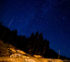 Shooting Star (Lloyd K. Barnes Photography) Tags: sky canada night vancouver stars shower britishcolumbia astrophotography astronomy cypress meteor perseid perseids