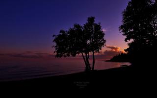 Sunset Over Gitche-Gami
