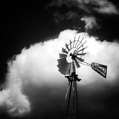 Gordon Bowen's Old Windmill (Baab1) Tags: blackandwhite monochrome clouds windmills southernmaryland calvertcountymaryland 1755nikkor bwpolarizer bowensgrocery niksoftware nikond300 huntingtownmaryland calvertcountylandmarks citgogas mygearandme delishops mainstreetmaryland