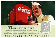 Coca-Cola Thirst Stops Here  1940 (MichaelB in Houston) Tags: coke cocacola vintageads
