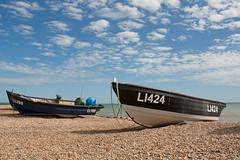 Bognor Boats (Treflyn) Tags: uk sea summer england west beach boats sussex pier seaside fishing day britain near great pebble bognor regis pwpartlycloudy