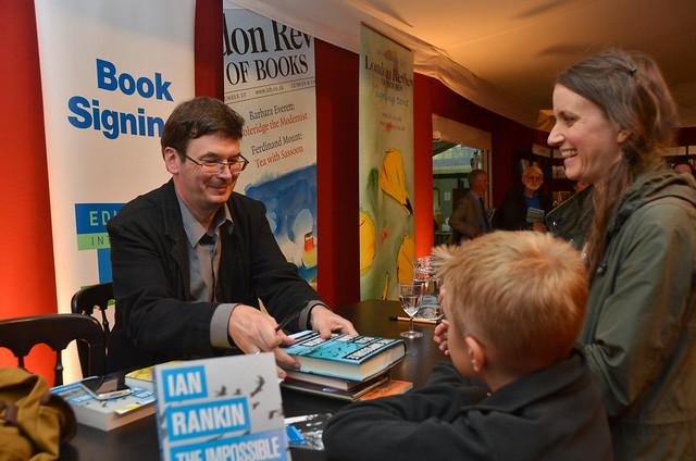 Ian Rankin book signing