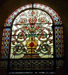 Notre Dame de la Garde, Marseille: stained glass window (John Steedman) Tags: france church window marseille frankreich kirche stainedglass notredame frankrijk francia glise kerk stainedglasswindow notredamedelagarde  massilia