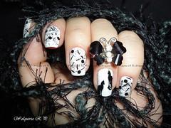 Glitters com Gatinho.. (Walquiria R.P.) Tags: nail unhas nailart unhasdecoradas unhabakana glitterfiletinho glitterexagonal gllitterpreto unhascomadesivos