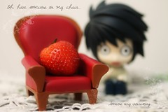 Oh, have someone on my chair... (n a m i [  ]) Tags: cute chair strawberry l ichigo deathnote nendoroid