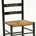 163. Paint Decorated Ladder Back Chair