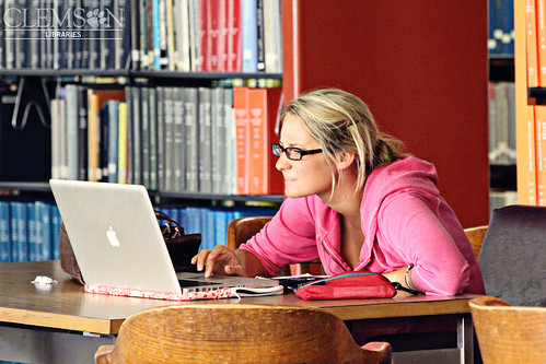 Back and already hard at work! by clemsonunivlibrary, on Flickr
