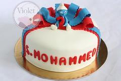 (Violet.bh) Tags: cake bahrain birthdaycake smurfs