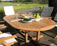 Outdoor teak furniture
