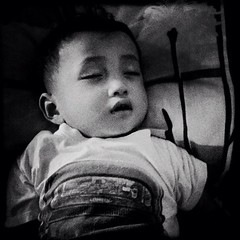 Sleepyhead. #bw #kids (clazirus) Tags: sleeping baby white black square sleep squareformat iphone unohu clazirus iphoneography instagramapp uploaded:by=instagram