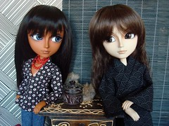 Tom y Tokio 4 (Lunalila1) Tags: horse black sol tom caballo outfit doll native indian bad american terco taeyang seiran