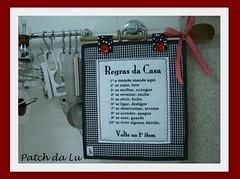 Recadinho da MAMÃE (Patch da Lu) Tags: casa da patchwork cozinha mamãe regras panô recadinho patchdalu