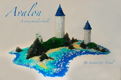 Avalon 'Connectionless' (Siercon and Coral) Tags: castle beach water island arthur king waves lego avalon moc connectionless
