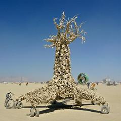Bone Tree (jurvetson) Tags: man black rock desert good nevada burning burn 20 fertility burners 2012