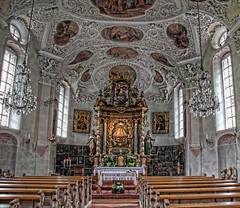Wallfahrtskirche Maria Gern_Innenraum (Tatjana_2010) Tags: church bayern berchtesgaden oberbayern kirche wallfahrtskirche berchtesgadenerland mariagern berchtesgadeneralpen