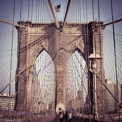Vintage feel (*Flavio*) Tags: nyc newyork brooklynbridge stitched