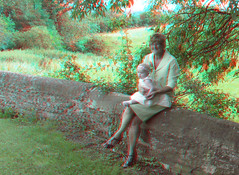 Loving grandmother 2 (katyfernleigh) Tags: 3d anaglyph stereo spm twincamera canona570 sdmsync