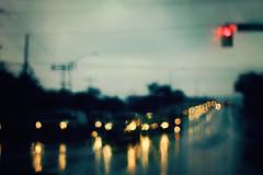 Day Three Hundred and Twenty Two (MarianneLoMonaco) Tags: road street light urban cars rain night reflections bokeh project365