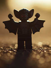 the menace of the manbat! (Johnson Cameraface) Tags: summer macro halloween monster 50mm lego olympus september f2 zuiko 2012 manbat zd minfig e620 johnsoncameraface