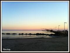 Italy ( Italia , Porto Garibaldi ) (maurorobi66) Tags: travel sunset sea italy beach water canon europa italia tramonto mare eu holliday spiaggia vacanza iphone portogaribaldi 550d