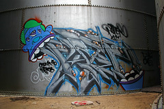 Pater Wander (The Braindead) Tags: street art minnesota train bench photography graffiti interesting flickr painted tracks minneapolis twin rail explore most beyond nk pater the braindead cites flickrs thebraindead