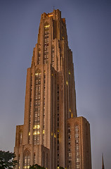 2012.254 (A Warm Glow on the Cathedral of Learning) (smartyarty41) Tags: architecture project oakland nikon pittsburgh 365 pitt cathedraloflearning 366 niksoftware d5100 hdrefexpro2