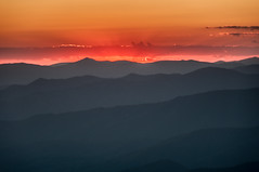 Fire In The Sky (Michael Kline) Tags: northcarolina september blueridgeparkway 2012 waterrockknob greatsmokiemountains