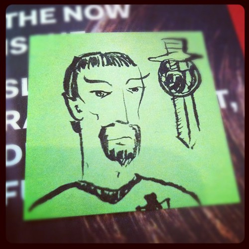 I did this Evil Spock in a morning scrum a few weeks ago.