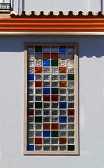 Cuadrados en vidrio de color (Namacun) Tags: glass squares andalucia coloured vidrio cuadradosenvidriodecolor