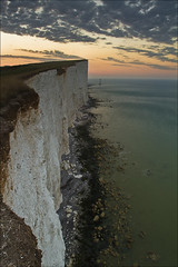 Beachy Head, England (sven483) Tags: sea england cliff lighthouse vertical sunrise sussex chalk head gap cliffs east eastbourne beachy birling