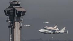 Runway 24 flyby (SBGrad) Tags: losangeles nikon sca nasa hornet boeing lax nikkor f18 spaceshuttle 747 2012 orbiter endeavour alr d90 n905na klax 747100 shuttlecarrieraircraft n946na n852na