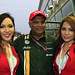 Tony Fernandes with AirAsia cabin crew