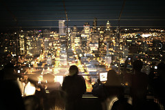 (sparth) Tags: seattle leica silhouette night lights washington needle citylights wa spaceneedle nightscene washingtonstate 2012 downtownseattle m9 leicam9