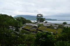 Japanese historical estates in Kagoshima with Sakurajima for background (junjunohaoha) Tags: japan kagoshima nikon d5300 sakurajima sengenen