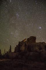 Vedauwoo Night 5 (PhotoStorm22) Tags: wy wyoming vedauwoo stars night sky rock rocks rockformation rockformations clamshell