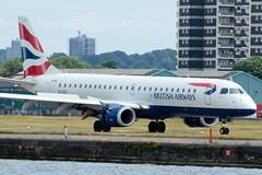 BA CityFlyer - Embraer ERJ-190SR - G-LCYJ  London City Airport (paulstevenchalmers) Tags: ba cityflyer embraer london londoncity lcy airport