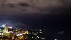Night Gurzuf (pozzhe) Tags: gurzuf mountains ayudag landscape adalars cloud see bearmountain mountain   crimea
