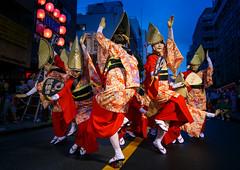 Nihoren Women's Performance in Blue Hour @ Mitaka Awaodori 2016 (Apricot Cafe) Tags: awaodori canonef1635mmf28liiusm japan mitaka mitakaawaodori nihoren tokyo dancing festival performance summer    mitakashi tkyto jp img648980