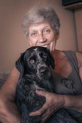 IMG_9607 (jennykarakasheva) Tags: portrait dog granny smile love devotion family