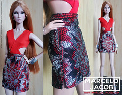 ELECTRA SKIRT (marcelojacob) Tags: fashion royalty doll dolls marcelo jacob barbie mueca silkstone poppy parker victoire roux color infusion ci dynamite girls model muse fr2 tall body boneca ropa roupa apparel eden agnes giselle vanessa perrin eugenia adele makeda nadja rhymes