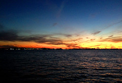 redhook (greenelent) Tags: sunset water horizon brooklyn redhook nature 365 photoaday
