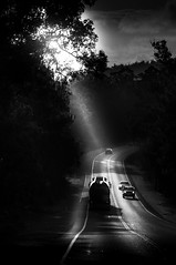 Light the way (Richard Mart1n) Tags: chiaruscru monochrome blackandwhite black white abstract contrast trucks truckin trucking awesome light dark sun sunray sunrays