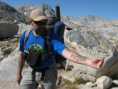 Passionate about Golden Trout! (Jeff Goddard 32) Tags: sierranevadamountains highsierra northlakebackcountry inyocounty california goldentrout tatoo fisherman fishtatoos