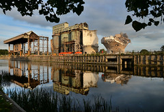 Don't wait till tomorrow (pentlandpirate) Tags: wallerscoteisland brunnermond ici imperialchemicalcompany demolition derelict ruin northwich cheshire sodaash